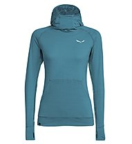 Salewa Puez Melange Dry - pullover trekking con cappuccio - donna, Blue