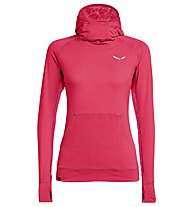 Salewa Puez Melange Dry - pullover trekking con cappuccio - donna, Red