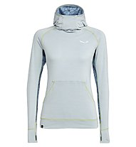 Salewa Puez Melange Dry - pullover trekking con cappuccio - donna, White