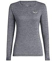 Salewa Puez Melange Dry - maglia a maniche lunghe - donna, Grey