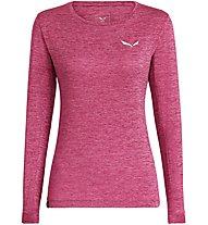 Salewa Puez Melange Dry - maglia a maniche lunghe - donna, Pink