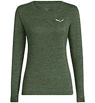 Salewa Puez Melange Dry - maglia a maniche lunghe - donna, Dark Green