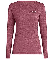 Salewa Puez Melange Dry - maglia a maniche lunghe - donna, Dark Pink