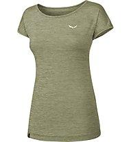 Salewa Puez Melange Dry - T-Shirt Kurzarm - Damen, Green