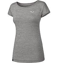 Salewa Puez Melange Dry - T-shirt trekking - donna, Grey