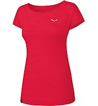 Salewa Puez Melange Dry - T-Shirt Kurzarm - Damen, Dark Red