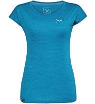 Salewa Puez Melange Dry - T-Shirt Kurzarm - Damen, Azure Melange