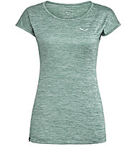 Salewa Puez Melange Dry - T-Shirt Kurzarm - Damen, Dark Green/White