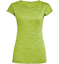Salewa Puez Melange Dry - T-Shirt Kurzarm - Damen, Light Green/White