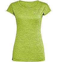 Salewa Puez Melange Dry - T-shirt trekking - donna, Light Green/White