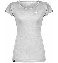 Salewa Puez Melange Dry - T-Shirt Kurzarm - Damen, Light Grey/White