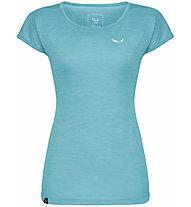 Salewa Puez Melange Dry - T-Shirt Kurzarm - Damen, Azure/White