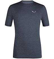 Salewa Puez Melange Hybrid Dry Tee - T-Shirt - Herren, Dark Blue