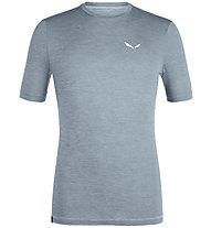 Salewa Puez Melange Hybrid Dry Tee - T-Shirt - Herren, Grey