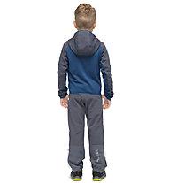 Salewa Puez Melange PL - giacca in pile con cappuccio - bambino, Blue/Dark Blue