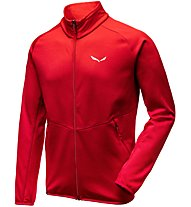 Salewa Puez Melange - Fleecejacke mit Kapuze - Herren, Light Red