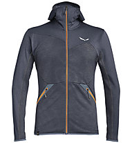 Salewa Puez Melange - felpa in pile - uomo, Dark Blue/Orange