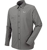Salewa Puez Mini Check Dry M L/S Srt Herren Funktionsshirt lang, Black