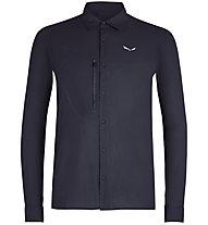 Salewa Puez Minicheck2 Dry M L/S - Langarm-Herren-Trekkinghemd, Dark Blue