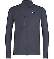 Salewa Puez Minicheck2 Dry M L/S - Langarm-Herren-Trekkinghemd, Blue