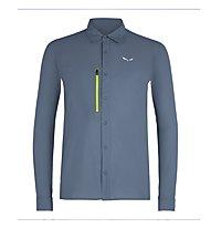 Salewa Puez Minicheck2 Dry M L/S - Langarm-Herren-Trekkinghemd, Grey