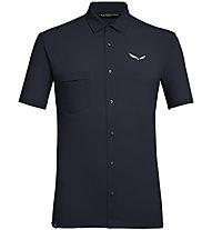 Salewa Puez Minicheck2 Dry M S/S - camicia a maniche corte trekking - uomo, Dark Blue