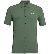 Salewa Puez Minicheck2 Dry M S/S - camicia a maniche corte trekking - uomo, Green