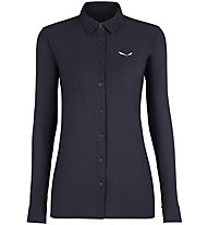 Salewa Puez Minicheck2 Dry - Bluse Langarm - Damen, Dark Blue