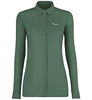 Salewa Puez Minicheck2 Dry - Bluse Langarm - Damen, Green
