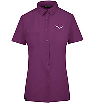Salewa Puez Minicheck2 Dry - Bluse Kurzarm - Damen, Purple