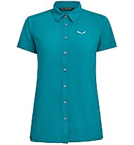 Salewa Puez Minicheck Dry - T-Shirt Bergsport - Damen, Azure