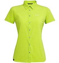Salewa Puez Minicheck Dry - T-Shirt Bergsport - Damen, Light Green