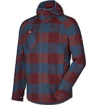 Salewa Puez Pl M L/S Srt Herren Trekkinghemd, Red/Blue
