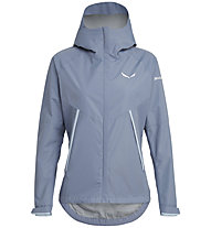 Salewa Puez PTX 2L - giacca hardshell - donna, Grey/Light Blue