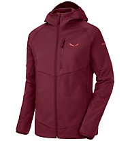 Salewa Puez - Softshelljacke mit Kapuze Wandern - Damen, Dark Red