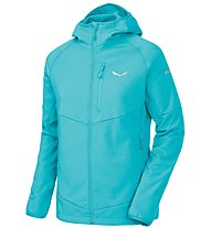 Salewa Puez - Softshelljacke mit Kapuze Wandern - Damen, Light Blue