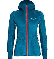 Salewa Puez Warm Pl - giacca in pile - donna, Light Blue/Red