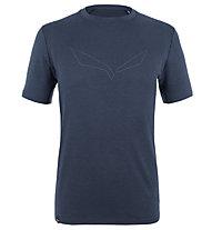 Salewa Pure Logo Amr Graph.M L/S - T-shirt - uomo , Dark Blue