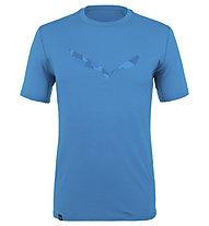 Salewa Pure Logo Amr Graph.M L/S - T-shirt - uomo , Light Blue