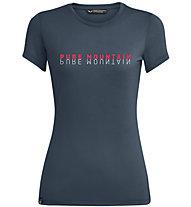 Salewa Pure Mountain Dry - T-Shirt - Damen, Dark Blue/Red/White