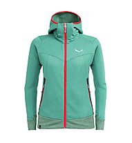 Salewa Pure Mountain Dry - Kapuzenjacke Trekking - Damen, Light Green/Red