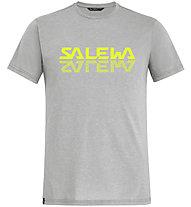 Salewa Reflection Dri-Rel M Tee - T-Shirt - Herren, Grey/Yellow