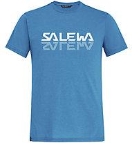 Salewa Reflection Dri-Rel M Tee - T-Shirt - Herren, Light Blue/White