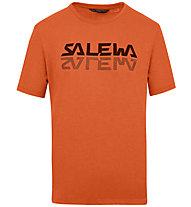 Salewa Reflection Dri-Rel M Tee - T-Shirt - Herren, Dark Orange/Black
