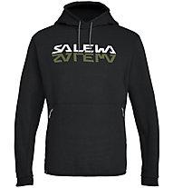 Salewa Reflection Dry - felpa con cappuccio trekking - uomo, Black