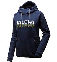 Salewa Reflection Dry - felpa con cappuccio trekking - donna, Blue