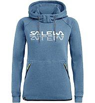 Salewa Reflection Dry - felpa con cappuccio trekking - donna, Light Blue