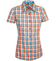 Salewa Renon 2.0 DRY - camicia a maniche corte trekking - donna, Orange/Light Blue