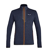 Salewa Rocca 2 PL - felpa in pile - uomo, Dark Blue/Orange