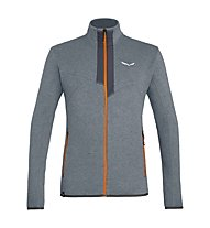 Salewa Rocca 2 PL - felpa in pile - uomo, Grey/Orange